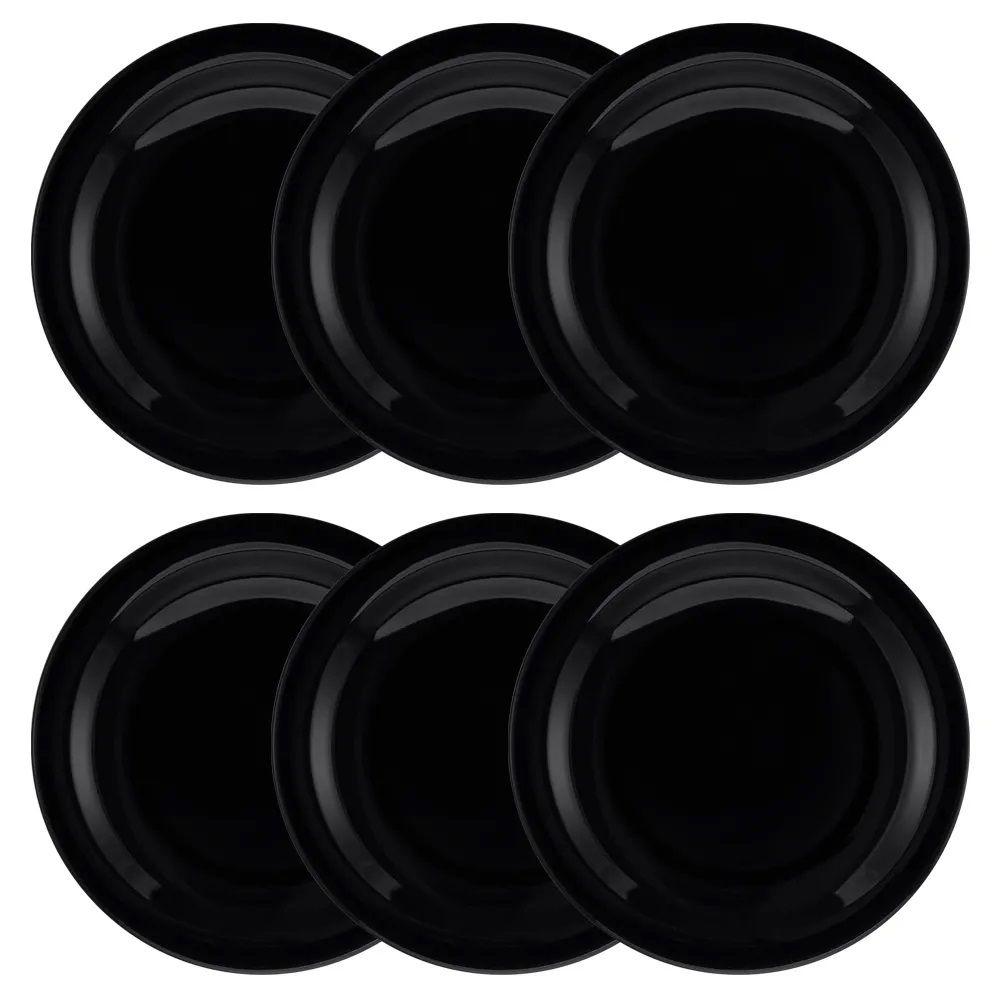 Conjunto C/ 6 Pratos Rasos 26Cm - Floreal Black - Oxford Daily