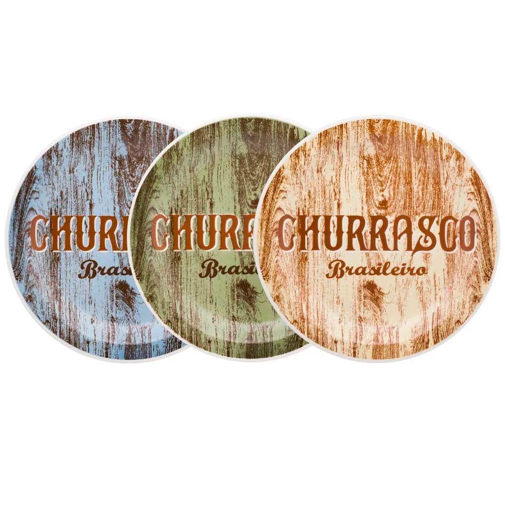 Conjunto Churrasco Brasileiro 3 Peças  - Oxford Daily