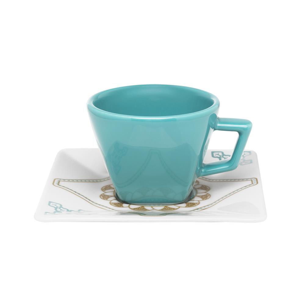 Conjunto Com 06 Xícaras De Chá 200Ml Com Pires 14 Cm -  Quartier Domo - Oxford Daily