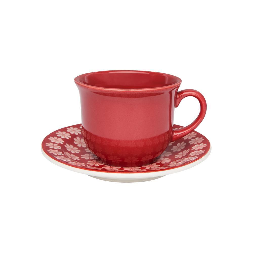 Conjunto Com 06 Xícaras De Chá 200Ml Com Pires 15Cm - Floreal Renda - Oxford  Daily