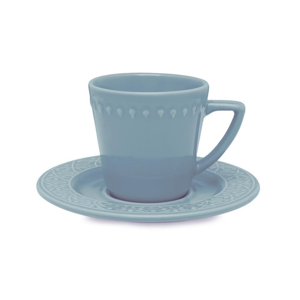 Conjunto Com 06 Xícaras De Chá 220Ml Com Pires 15,5 Cm -  Mendi Capri - Oxford Daily