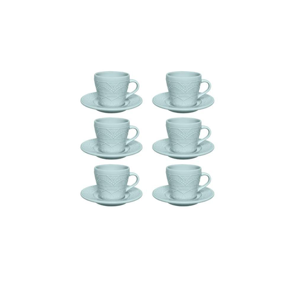 Conjunto Com 06 Xícaras De Chá 220Ml Com Pires 15Cm - Serena Essence - Oxford  Daily