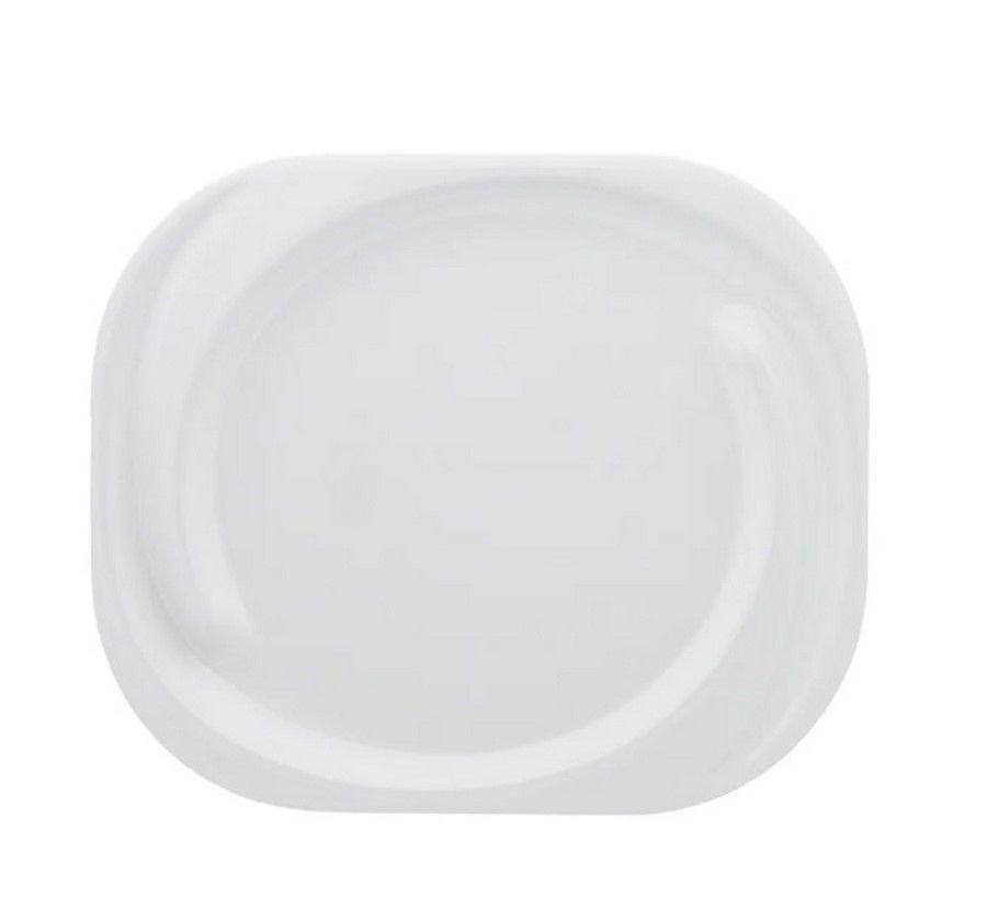 Conjunto Com 12 Pratos Rasos Spiral Branco - Oxford Porcelanas