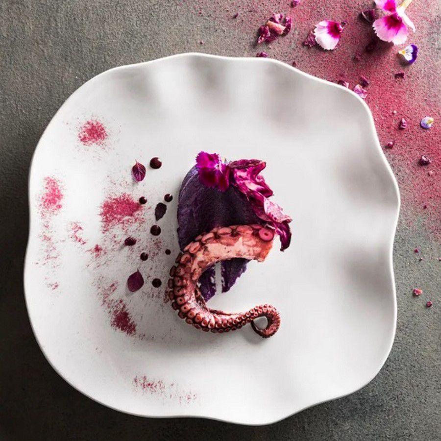 Conjunto Com 12 Pratos Rasos Zen Branco - Oxford Porcelanas