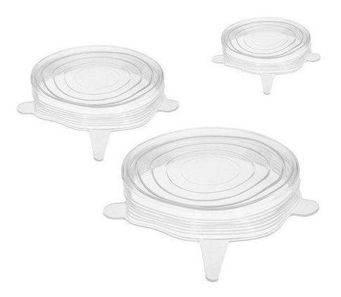 Conjunto Com 3 Tampas Reutilizáveis De Silicone - Prana