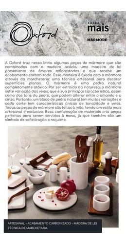 Conjunto Com 4 Utensílios Em Madeira Para Cozinha - Mármore Branco - Oxford