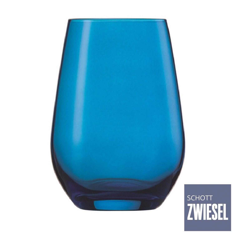 Conjunto Com 6 Copos Universais 385 Ml Azul - Schott-Zwiesel Vina