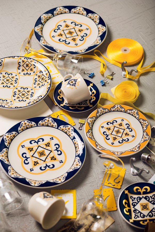 Conjunto Com 6 Pratos Rasos 26Cm - Floreal São Luís - Oxford Daily