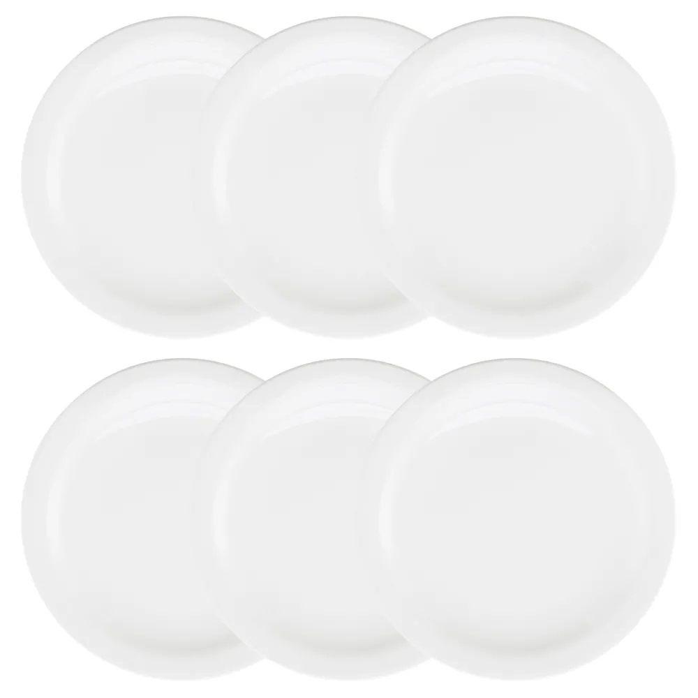 Conjunto Com 6 Pratos Rasos 26Cm - Floreal White - Oxford Daily