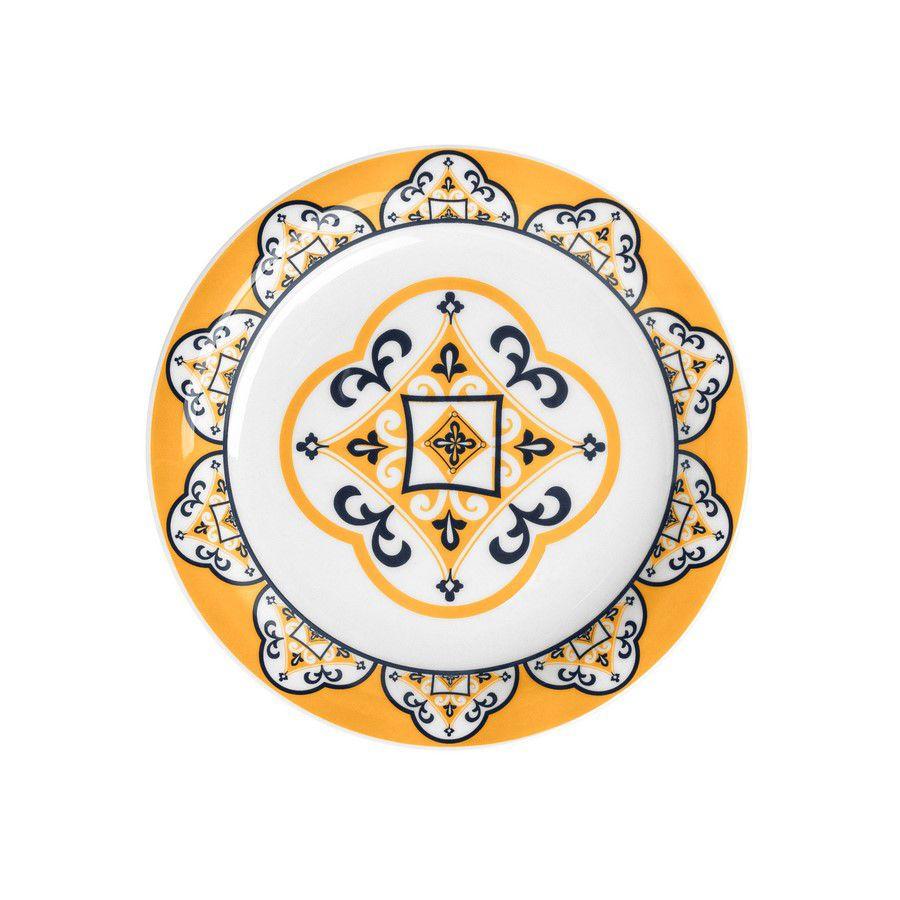 Conjunto Com 6 Pratos Sobremesa 20Cm - Floreal São Luís - Oxford Daily