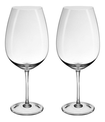 Conjunto de 02 Taças De Cristal Para Vinho Grand Cru 1140ml Oxford Crystal Handmade