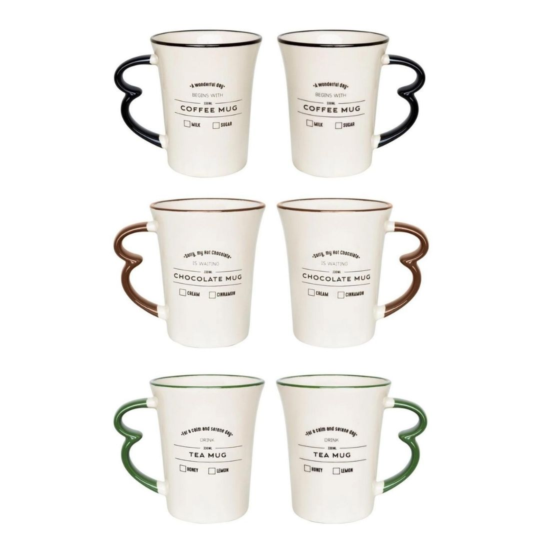 Conjunto de 03 Canecas Easy Hot Drinks Mug 330Ml - Oxford Daily