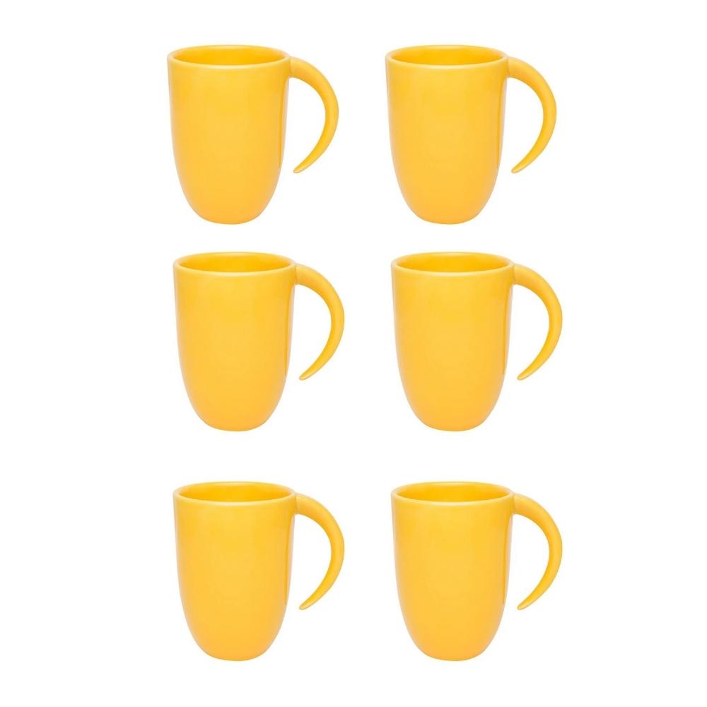 Conjunto De 06 Canecas Fall 350Ml - Amarelo - Oxford Porcelanas
