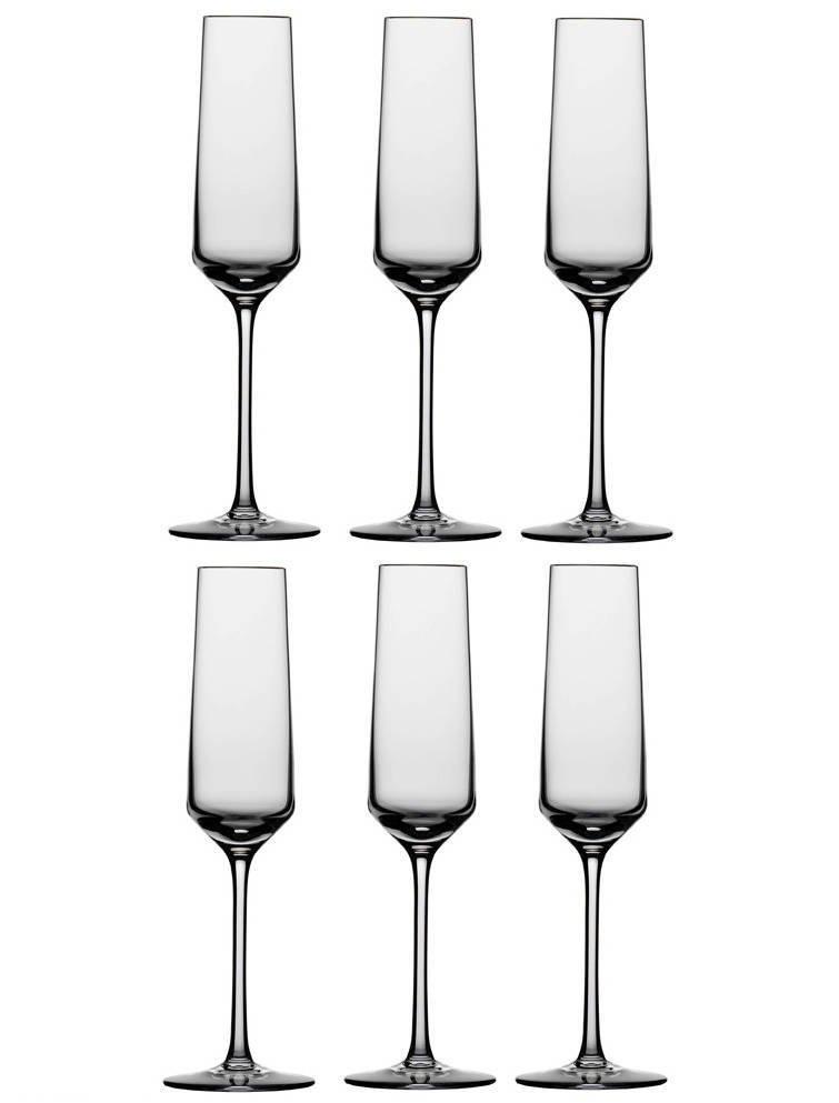 Conjunto De 06 Taças De Cristal Para Champagne 215 Ml Pure Schott Zwiesel