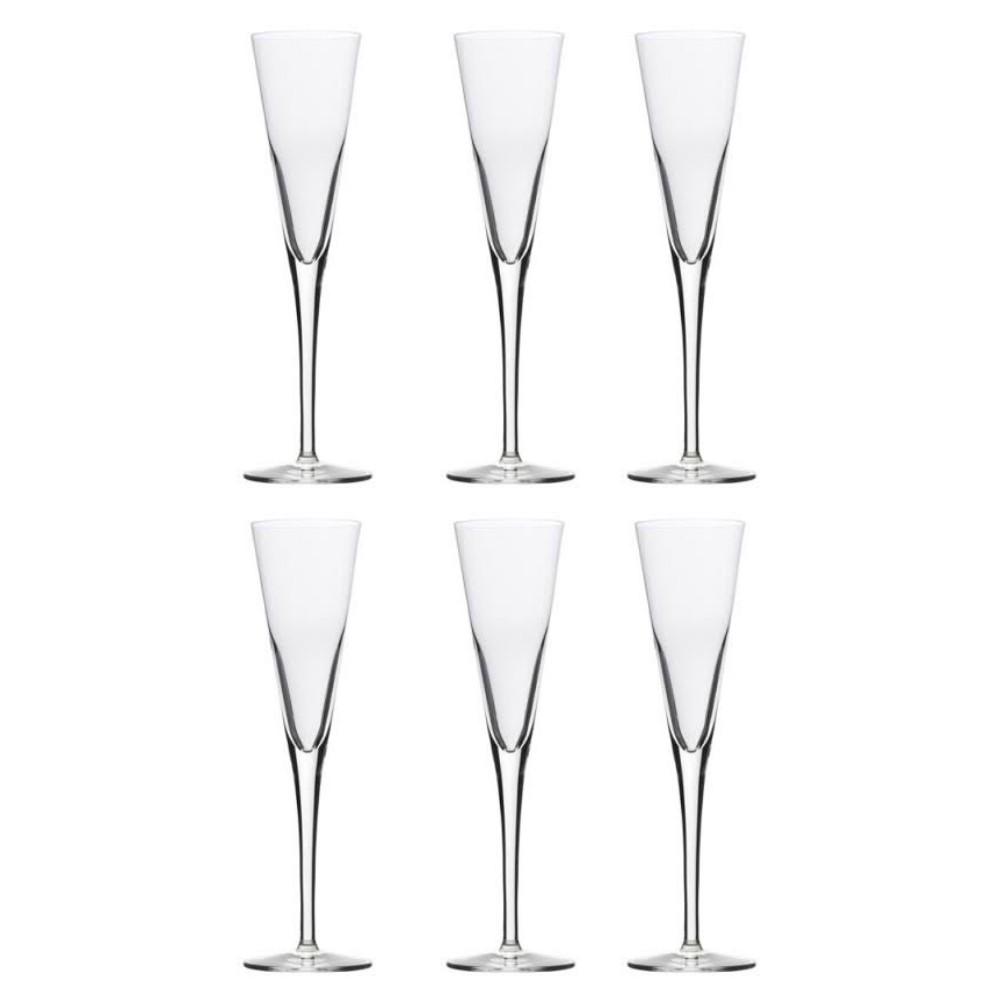 Conjunto De 06 Taças De Cristal Para Champagne/Prosecco 160Ml  Stölzle Lausitz