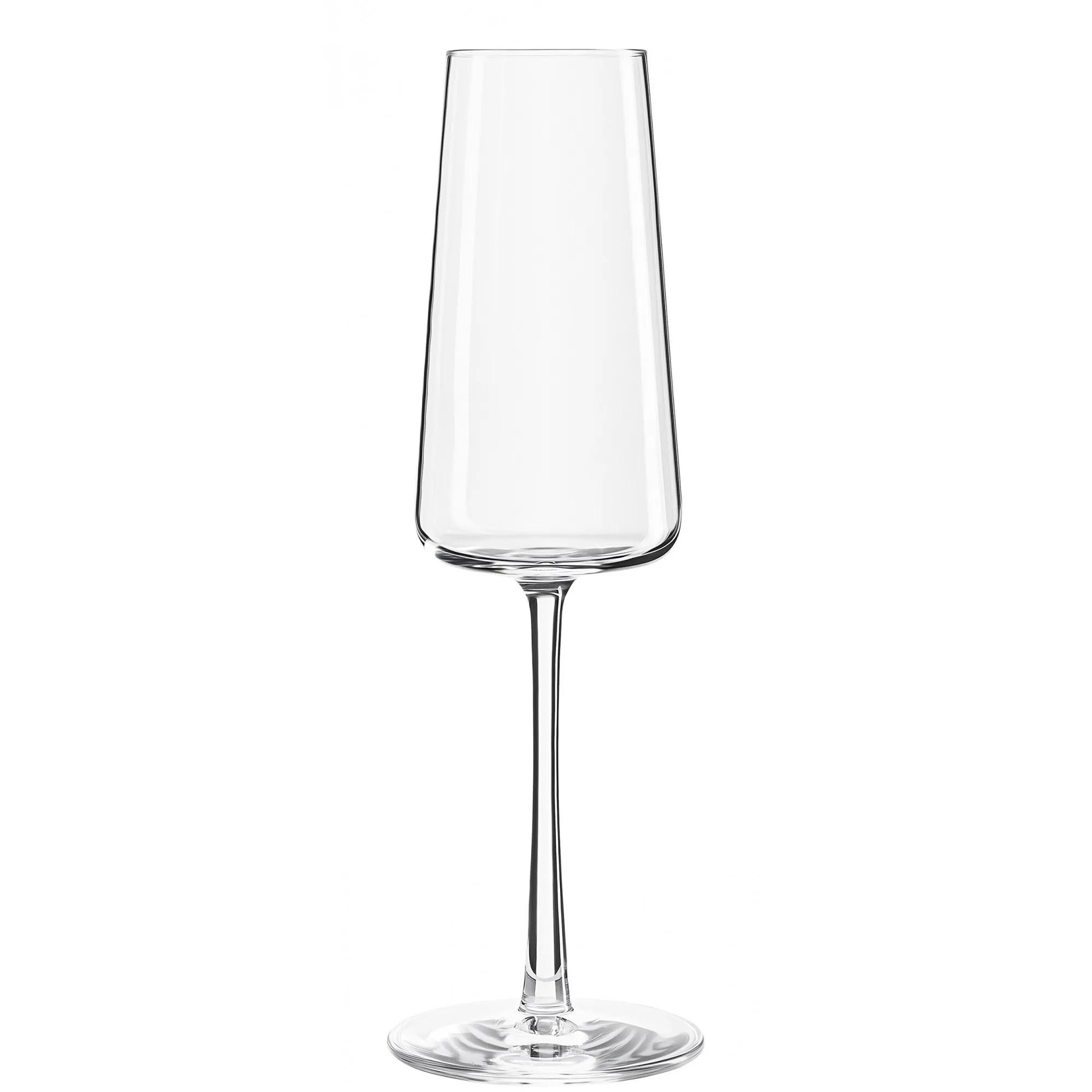 Conjunto De 06 Taças Stölzle Lausitz De Cristal Para Champagne/Prosecco 238Ml Linha Power