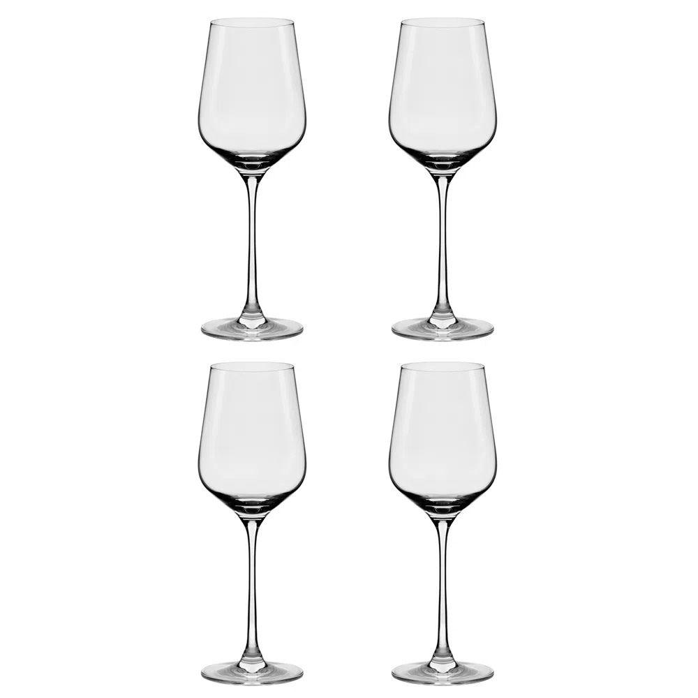 Conjunto De 4 Taças De Cristal Bordeaux 450ml Flavour Classic - Oxford Alumina Crystal