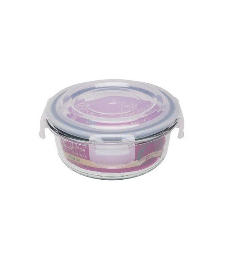 Conjunto De 6 Potes Herméticos De Vidro Temperado Redondo 400Ml - Oxford Daily
