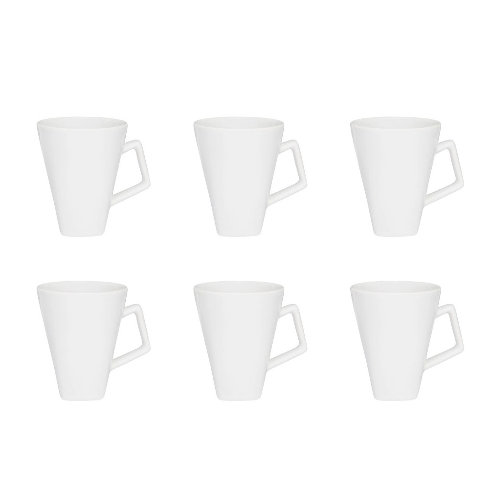 Conjunto De 6 Canecas Quartier 350Ml - Branco - Oxford Daily
