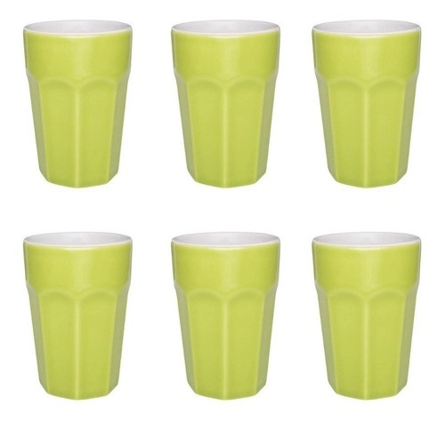 Conjunto De 6 Copos Grande 300Ml - Verde - Oxford Daily