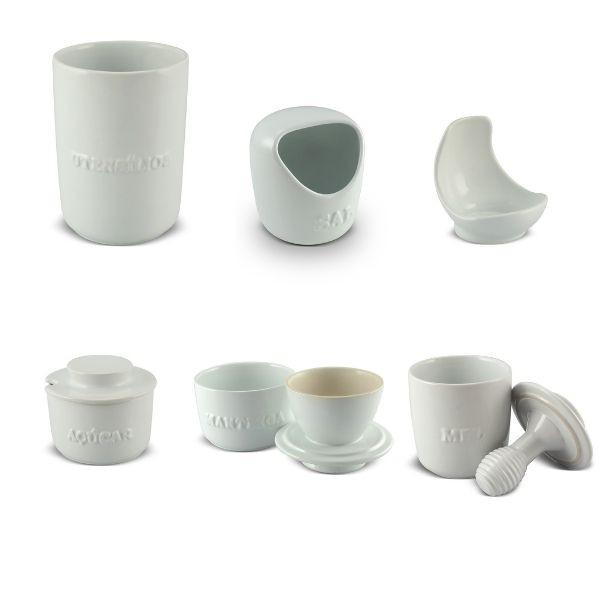 Conjunto de 6 Utensílios Para Cozinha MondoCeram Branco