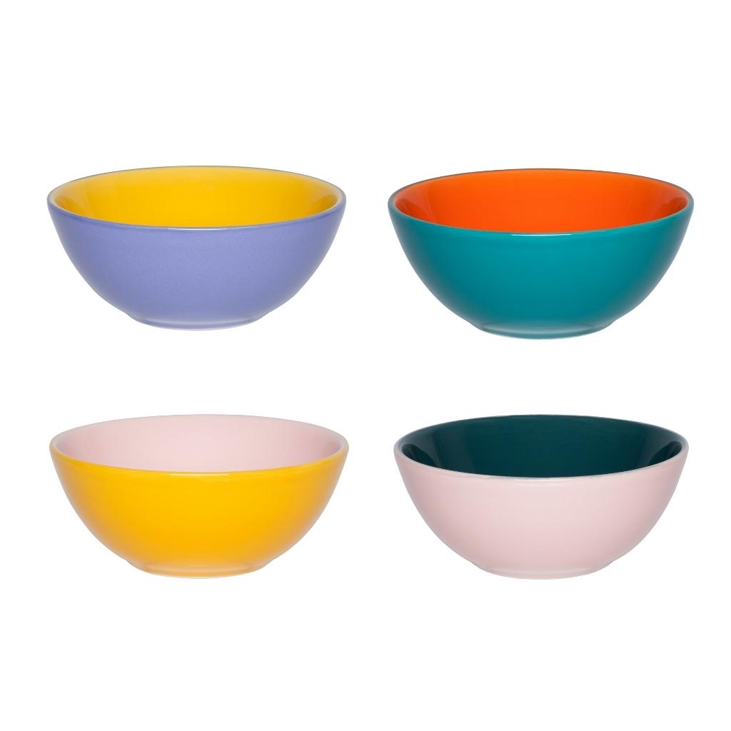 Conjunto De Bowl De Cerâmica 16Cm 600Ml - Bicolor - Oxford Porcelanas