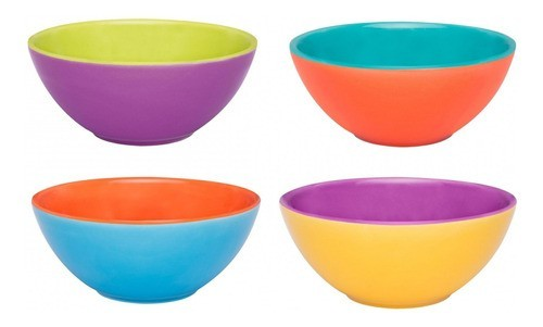 Conjunto De Bowl De Cerâmica 16Cm 600Ml - Bicolor - Oxford Porcelanas
