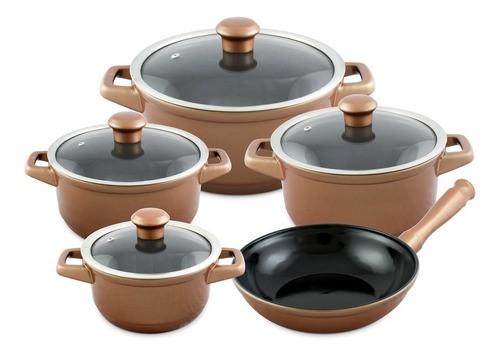 Conjunto De Caçarolas De Cerâmica Ceraflame 5 Peças Duo Cobre