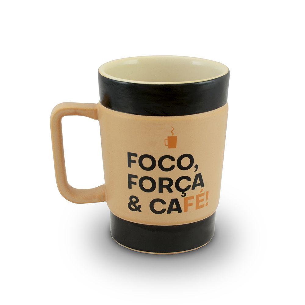 Conjunto De Canecas De Cerâmica 150Ml Mondoceram Coffee To Go