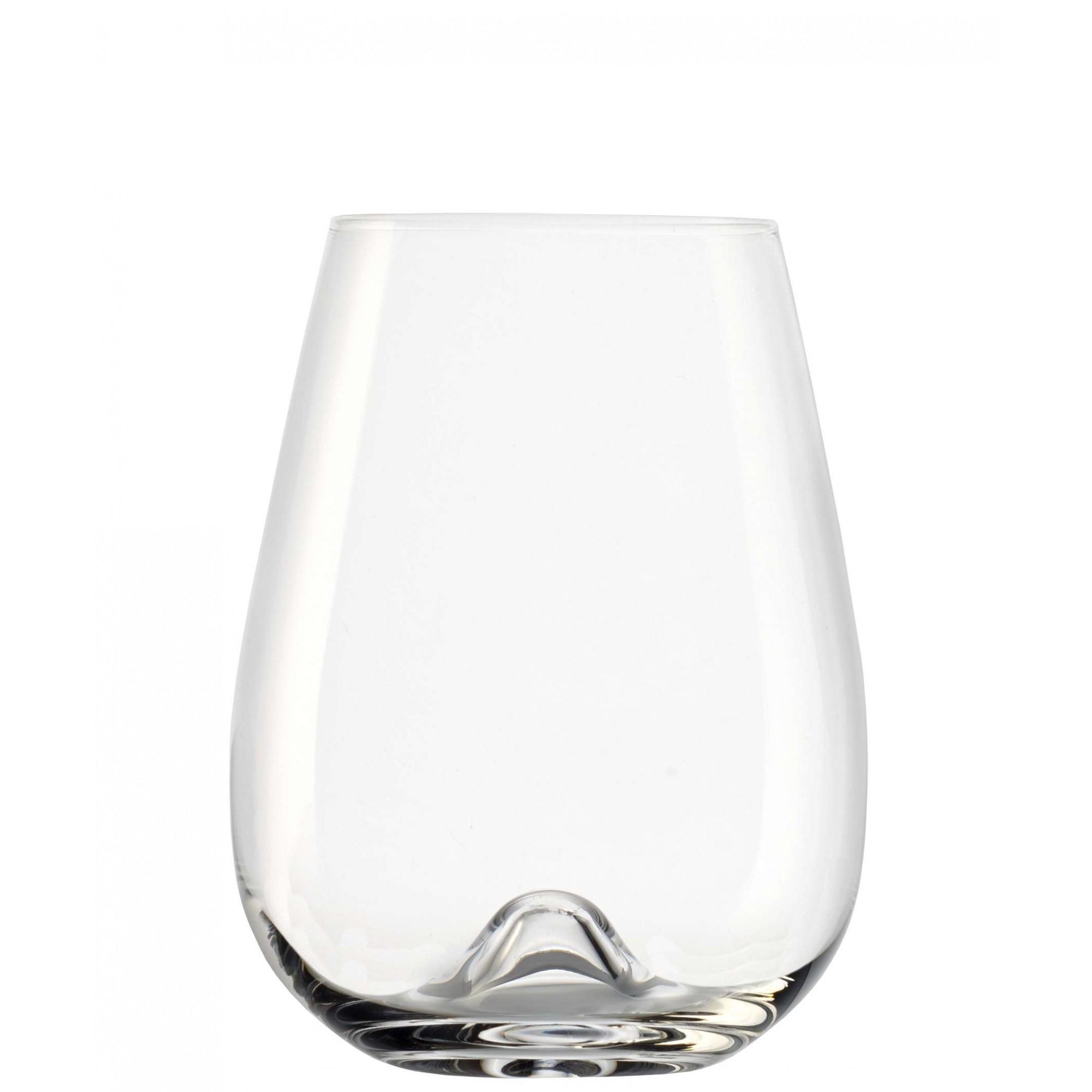Conjunto De Copos De Cristal Para Degustação De Vinho de 475 ML Linha Vulcano Stölzle Lausitz