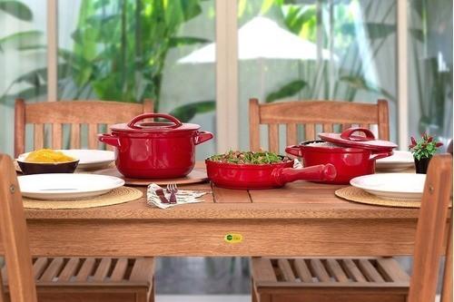 Conjunto De Panelas De Cerâmica Ceraflame  3 Peças Duo+ Smart Pomodoro