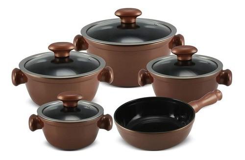 Conjunto De Panelas De Cerâmica Ceraflame  5 Peças Chef - Cobre