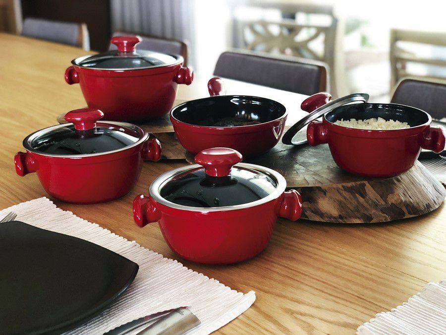 Conjunto De Panelas De Cerâmica Ceraflame  5 Peças Chef - Pomodoro