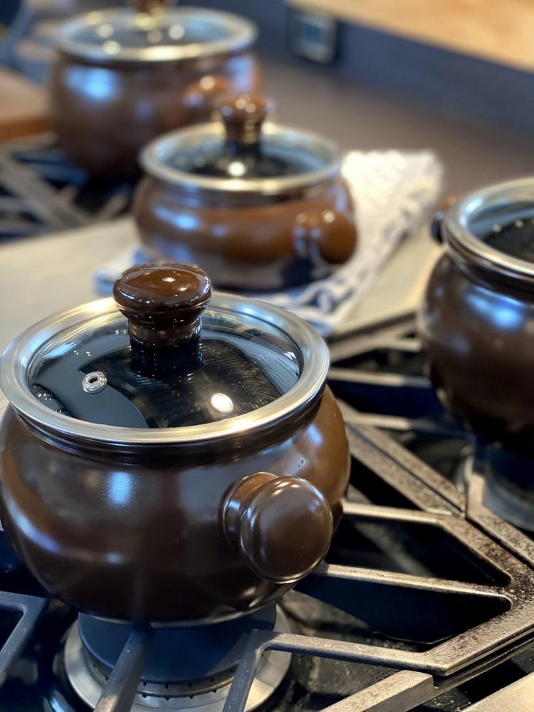 Conjunto De Panelas De Cerâmica Ceraflame Premiere Joy 5 Peças Chocolate Com Assadeira 20Cm