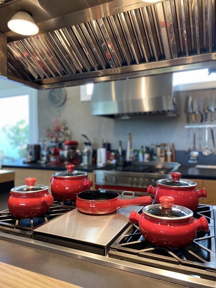 Conjunto De Panelas De Cerâmica Ceraflame Premiere Joy 5 Peças Pomodoro Com Assadeira 20Cm Preta