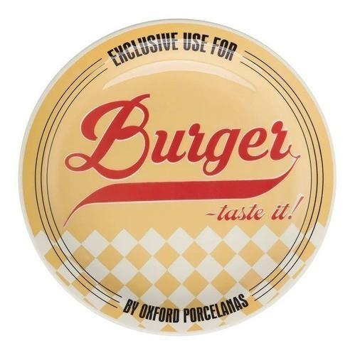 Conjunto de Pratos 26cm Burger Sortidos 3 Peças - Oxford