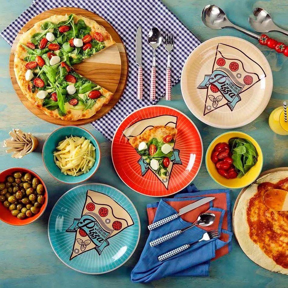 Conjunto De Pratos Para Pizza 3 Peças - Oxford Daily