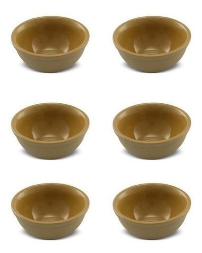 Conjunto De Sobremesa De Cerâmica 9,5Cm 150Ml Ocre Ceraflame Origens