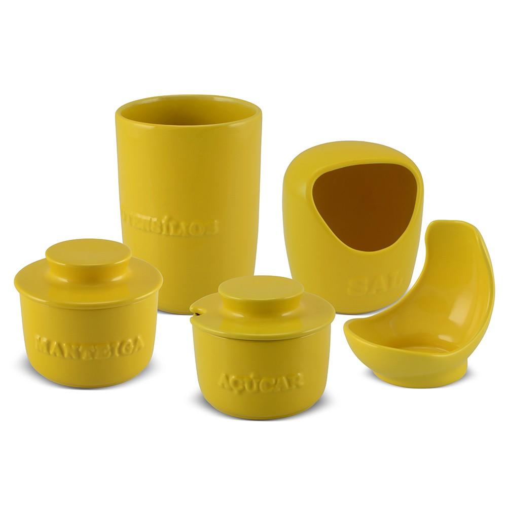 Conjunto De Utensílios Ceraflame Gourmet Amarelo