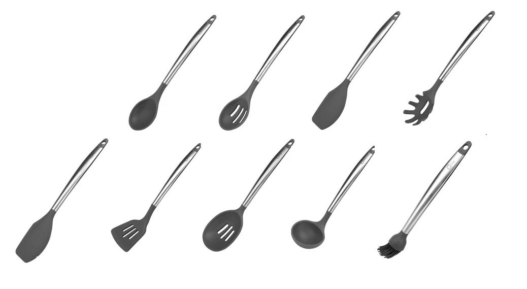 Conjunto De Utensílios de Silicone Para Cozinha  - Cool Grey - Oxford