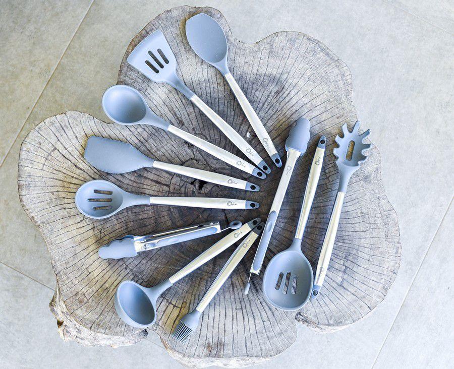 Conjunto De Utensílios Para Cozinha De Silicone - Cool Grey - Oxford