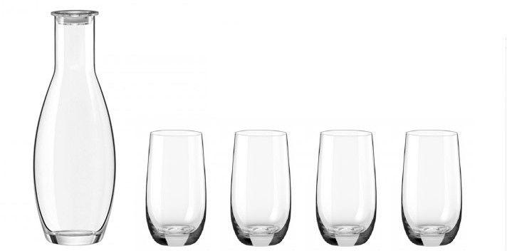 Conjunto Touch C/ Garrafa Com Tampa E 4 Copos - Oxford Alumina Crystal