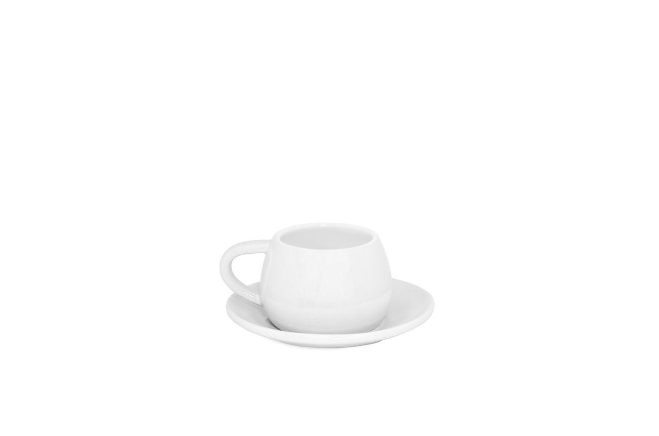 Conjunto De Cerâmica Com Xícara E Pires Tropeiro - Branco