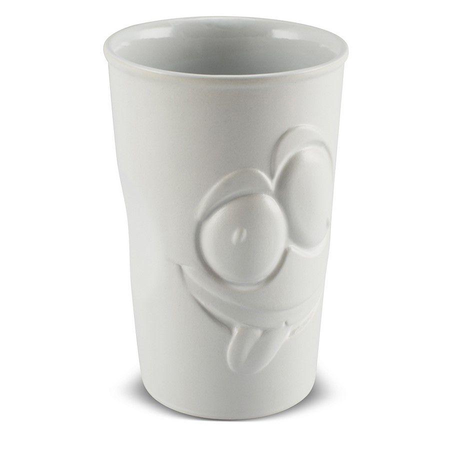 Copo De Cerâmica 500Ml Branco Fosco Zé Lelé Mondoceram