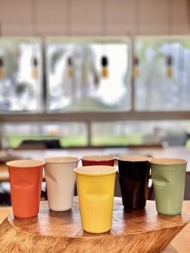 Copo De Cerâmica Plastic 240Ml Amarelo Ceraflame