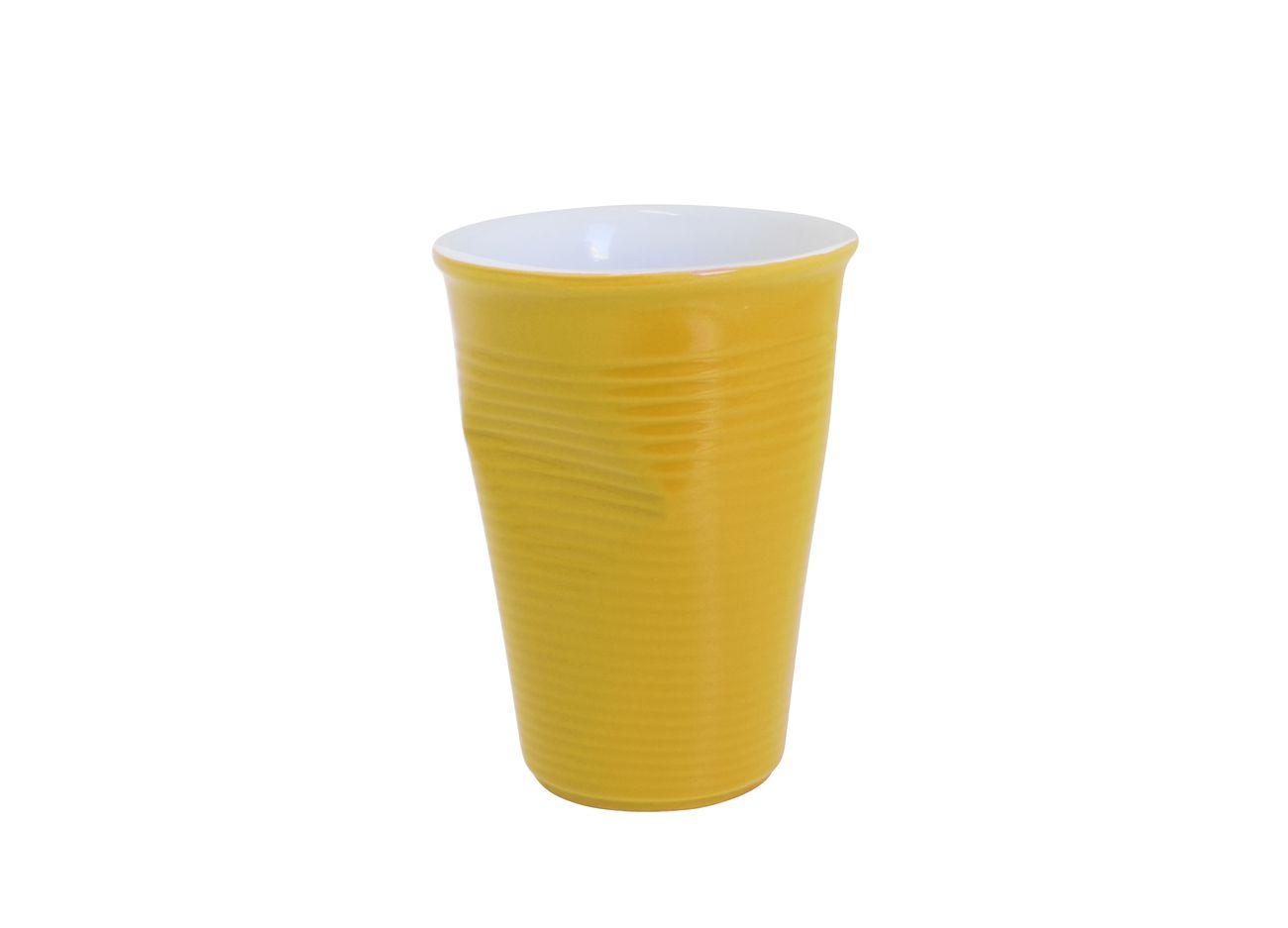 Copo De Cerâmica Plastic 240Ml Amarelo Mondoceram
