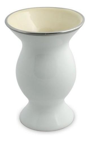 Cuia De Cerâmica Ceraflame Lisa Média - Branca