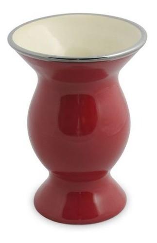 Cuia De Cerâmica Ceraflame Lisa - Vermelha