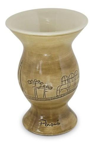 Cuia De Cerâmica Paraná Baixo Relevo 350Ml Ceraflame