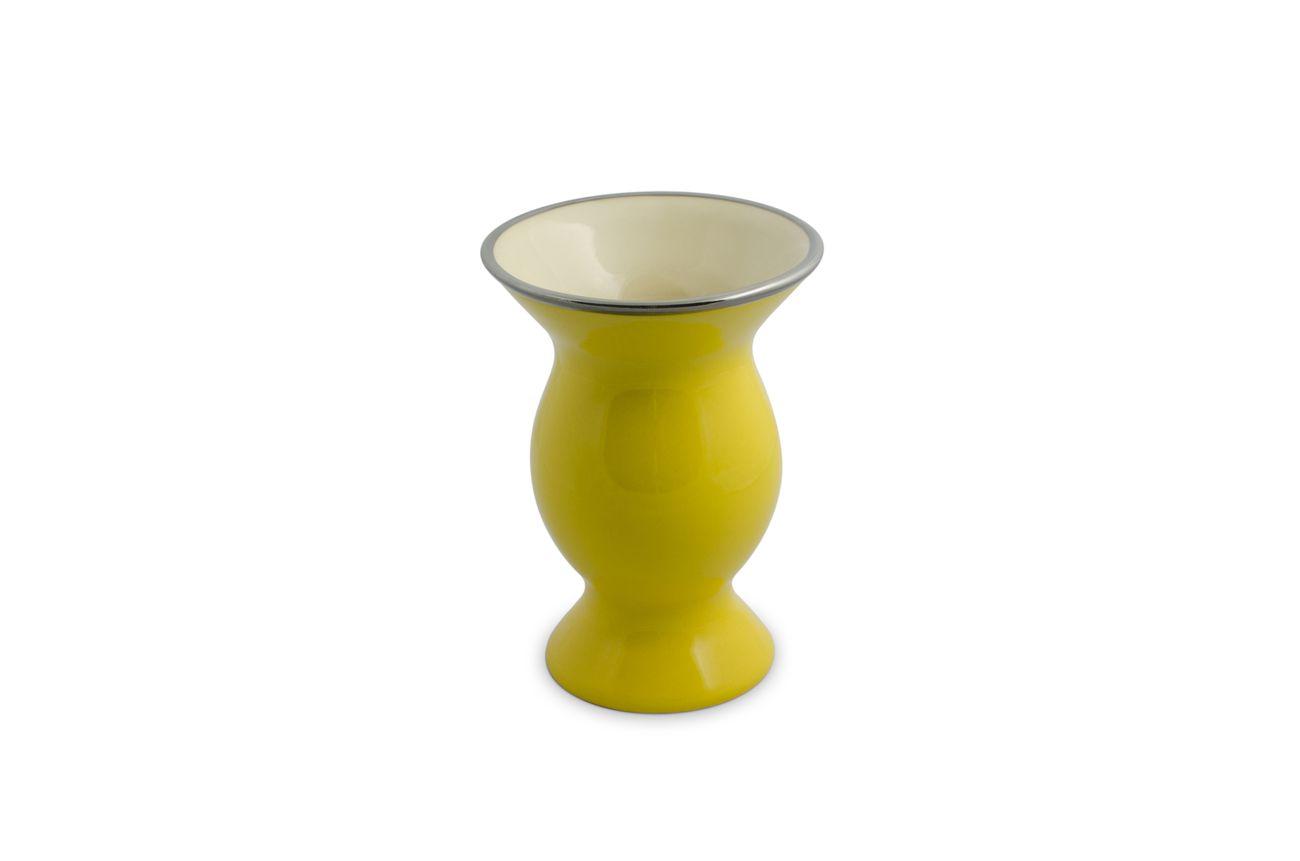Cuia De Cerâmica Mondoceram Lisa Média - Amarela